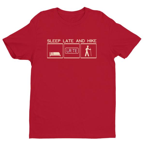 Next Level short sleeve men's t-shirt with ligh cyan bisque logo