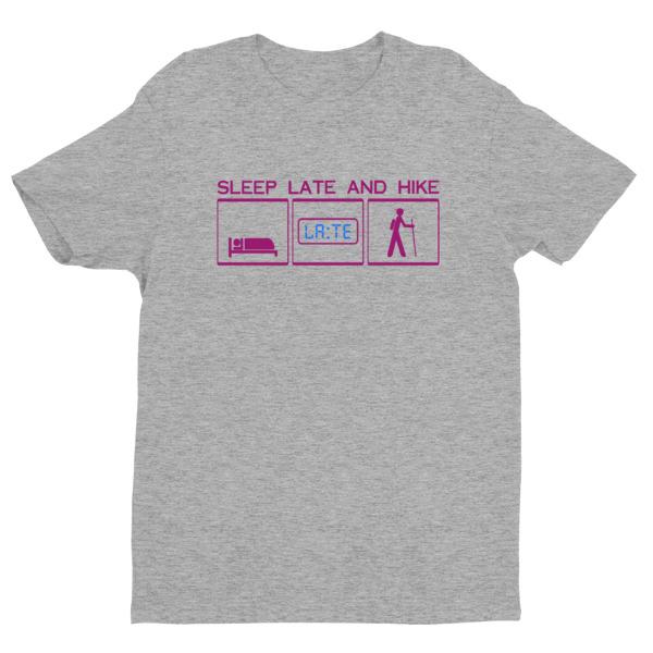 Next Level short sleeve men's t-shirt with purple blue logo